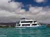 "Unsere Galapagos-Yacht, die ""Fragata"""