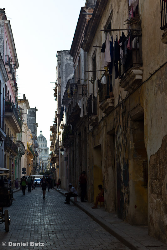 Eine Gasse von La Habana Vieja