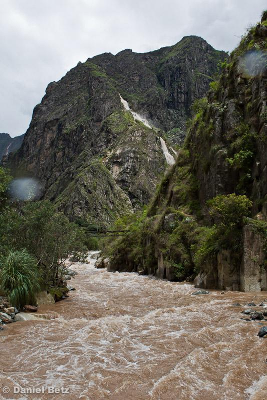 Die riesige Wasserfälle ...
